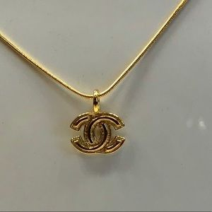 Authentic Chanel CC Gold Metal Pendant